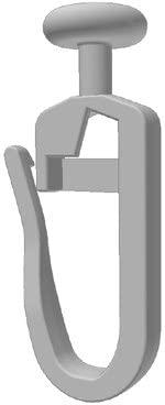 100 Stk. Gardinengleiter/Faltenlegehaken (406-7) 7 mm Gleiter
