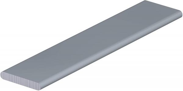 10 x Alu-Beschwerungsstab 20 x 3 (160 g/m) in 60 cm für Schiebevorhang, Flächenvorhang, weiß