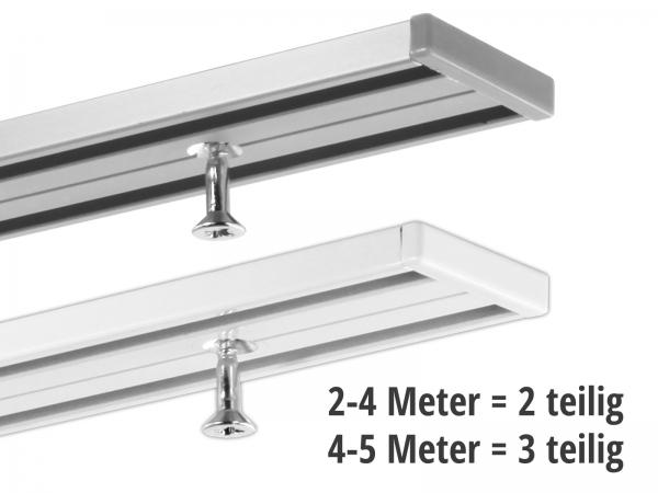Gardinenschiene 2-läufig ab 2 Meter (2 und 3 teilig)