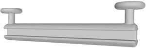 50 Stk. Schlaufengleiter, Länge 5 cm für Schlaufenvorhänge