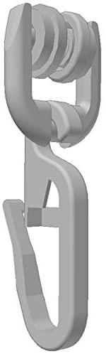 100 Stk. T-Rollen (70-842) mit Faltenhaken für T-Schienen