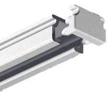 Schleuderschiene aus Aluminium, weiß oder silber, 1-läufg ab 2 Meter (2 und 3 teilig)