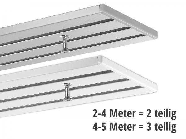 Gardinenschiene 3-läufig ab 2 Meter (2 und 3 teilig)