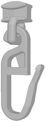 100 Stk. Gardinenhaken-Gleiter (925P) für Faltenhaken 4mm