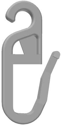 100 Stk. Faltenlegehaken/Gardinenhaken (840-4) mit 4 mm Öse für Rundringe