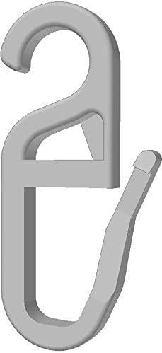 100 Stk. Faltenhaken/Gardinenhaken (840-8) mit 8 mm Öse weiß