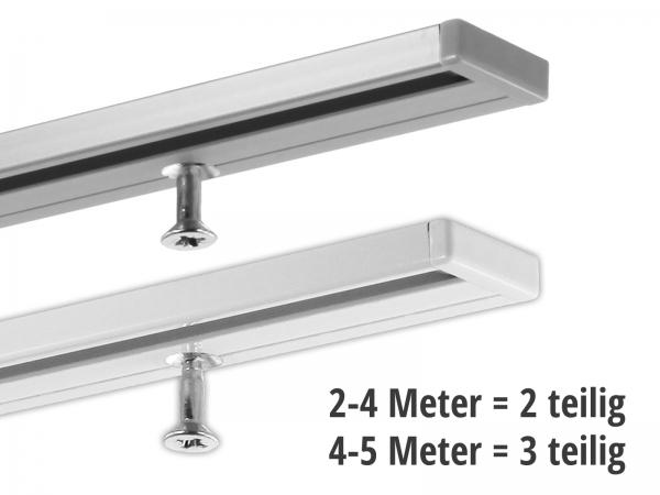 Gardinenschiene 1-läufig ab 2 Meter (2 und 3 teilig)